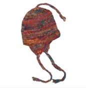 hat,wool hat with ear flaps