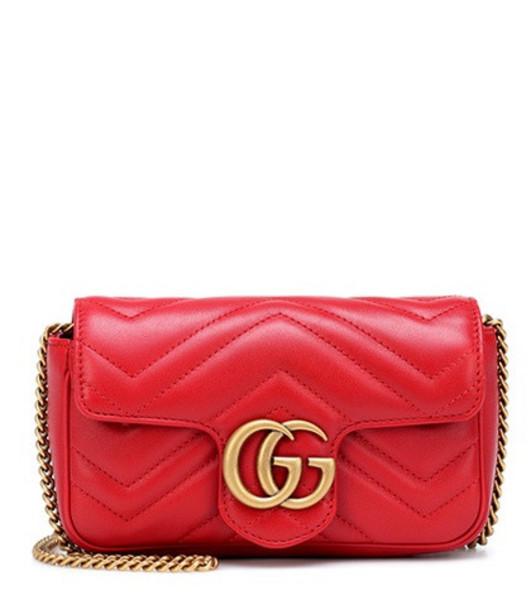 Gucci GG Marmont Super Mini shoulder bag in red