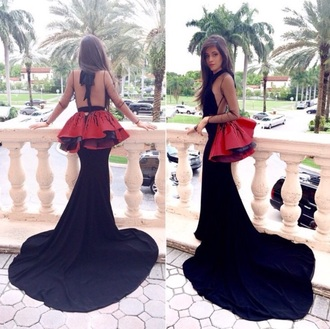 dress black emigrant long fllowy prom dressss