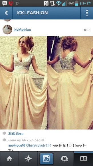 dress long prom dresses glitter dress silky dress vneck