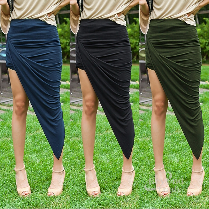 NEW 2014 Elegant Women's Summer Autumn Irregular Sweep Slim High Waist Bag Basic Skirt Bust Skirt Long Maxi Boho Bohemian Skirts-in Skirts from Apparel & Accessories on Aliexpress.com | Alibaba Group