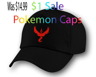 black hat cap snapback pokemon