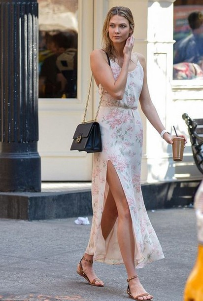 Dress: maxi dress slit dress karlie kloss summer dress summer ...