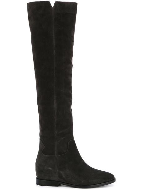 ASH women leather grey shoes