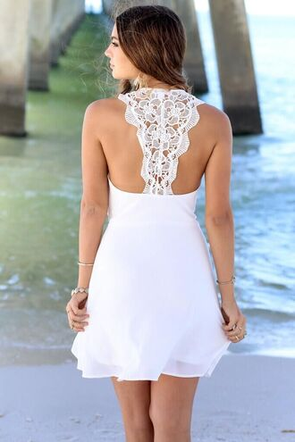 dress white dress women dress lace dress white lace dress white lace white lace top white lace skirt chiffon dress chiffon white chiffon shirt dress sexy dress sexy dresses prom sleevless dress backless backless dress white backless dress sexy summer summer dress summer white beach dress beach