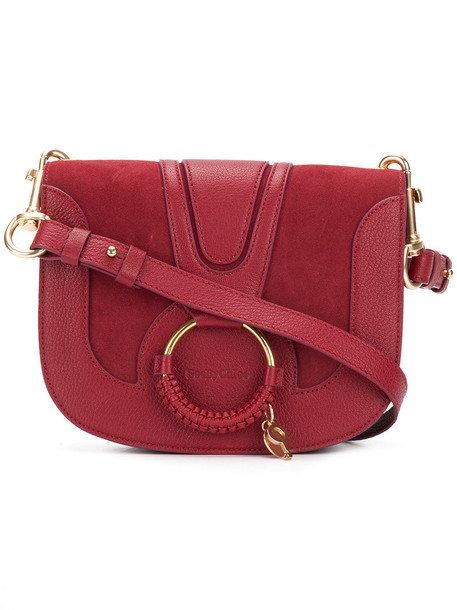 See by Chloe women bag leather cotton suede red