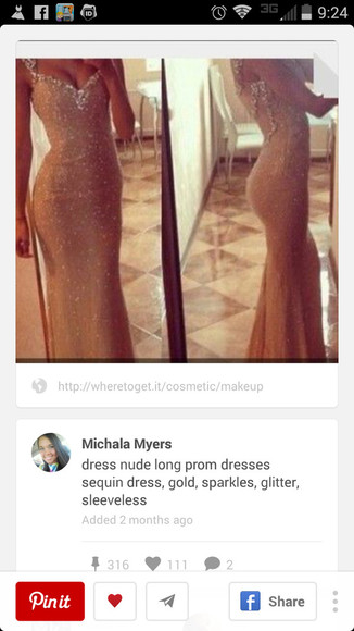 long prom dress prom dress nude dress sparkly dress pretty dress nude color