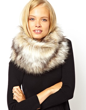 ASOS | ASOS Faux Fur Funnel Snood at ASOS