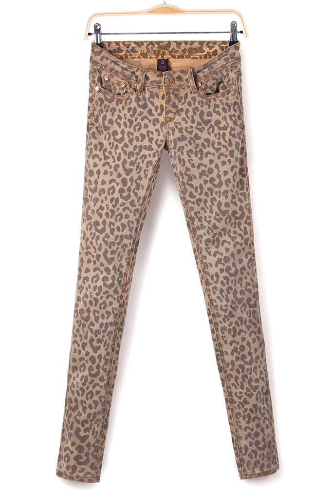 Winter women's low waist water wash distrressed leopard print skinny jeans,skinny pants-inJeans from Apparel & Accessories on Aliexpress.com