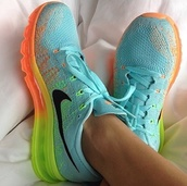 shoes,nike roses free runs trainers sport organs black yellow green,neon,nike,workout,running,tank top,sports bra,nike fade,blue,nikerunningshoes,multicolor,nike trainers love