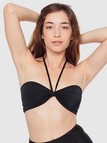 Nylon Tricot Bandeau Bikini Top | American Apparel