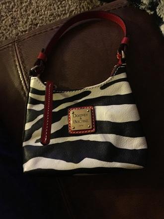 bag zebra dooney & burke small tote