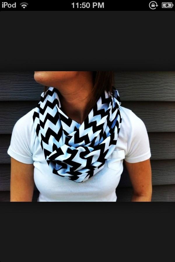 scarf infinity scarf chevron black white