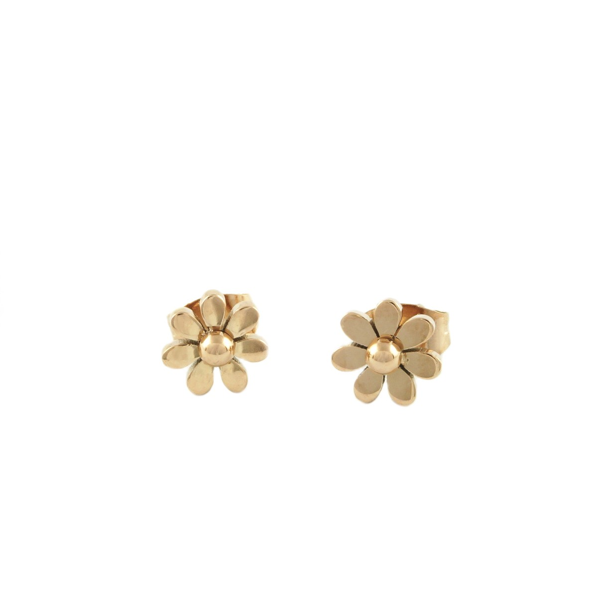 Dainty Flower Studs Earrings | Gold plated on Titanium