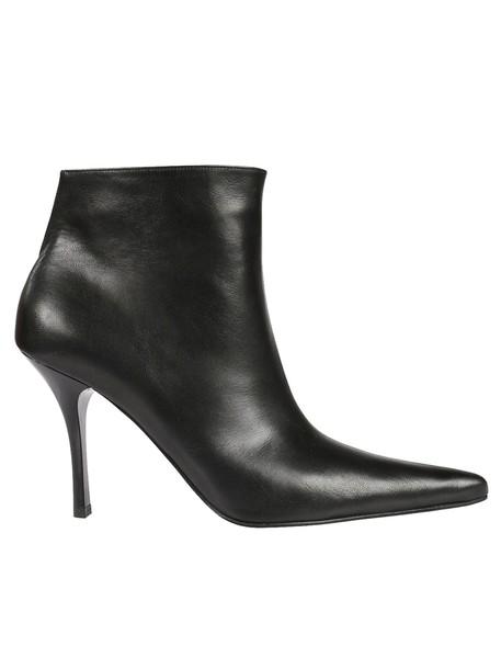 Celine back slit ankle boots shoes