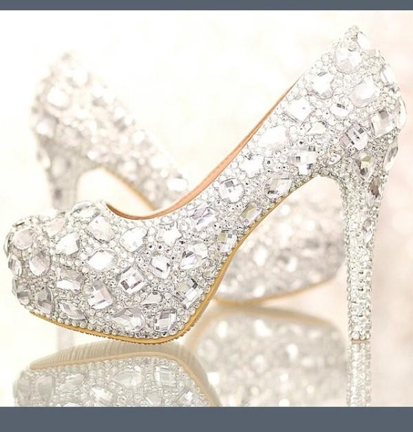 49a8694315b Bride crystal rhinestone shoes high heeled white wedding shoes ...