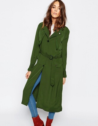 coat green trenchcoat trench coat green