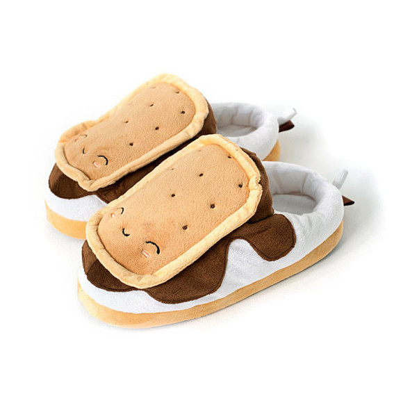 cute s'mores shoes slippers smores food s'more