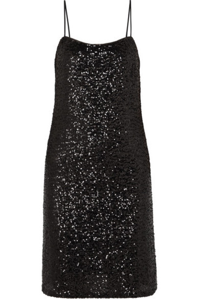 Anna Sui - Sparkling Nights Sequined Tulle Dress - Black