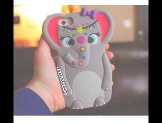 phone cover cute elephant