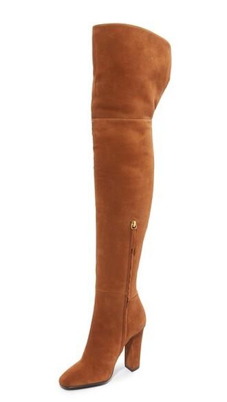 boot high knee high tan shoes