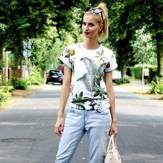 t-shirt yeah bunny tropical cute palms jungle back to school