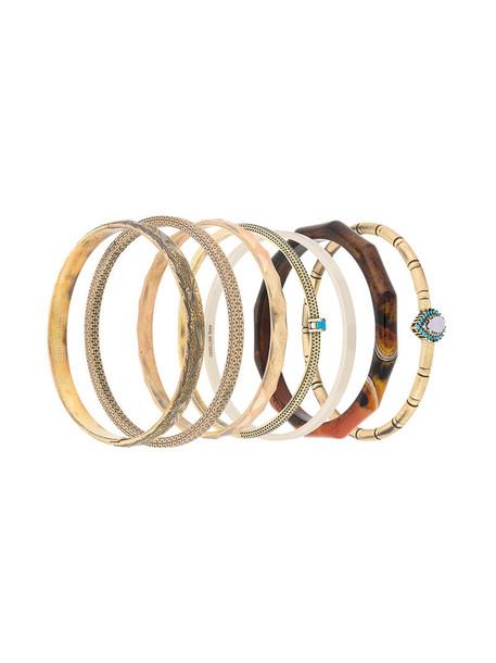 IOSSELLIANI women bracelets grey turquoise metallic jewels