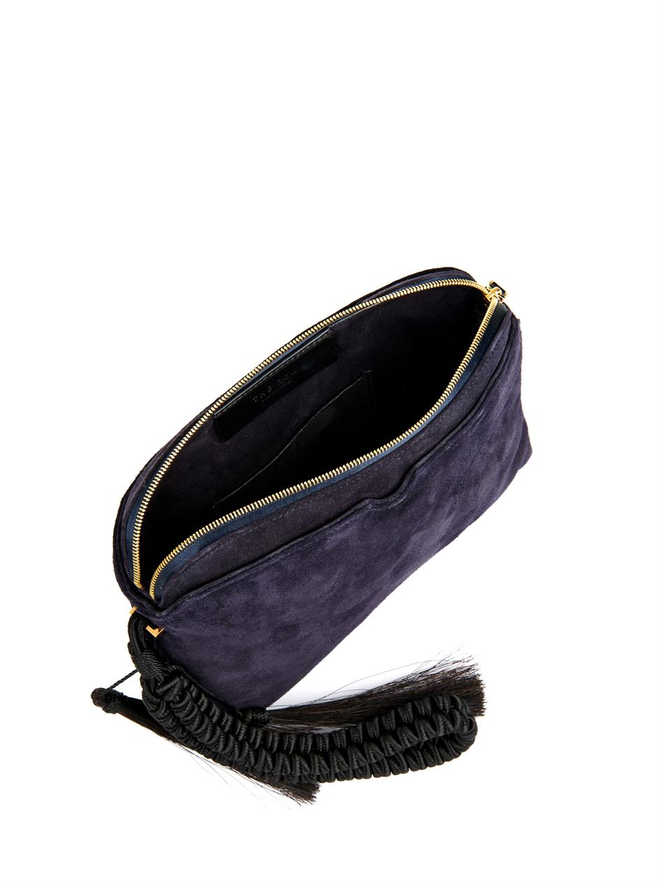 Zip-top suede clutch | The Row | MATCHESFASHION.COM