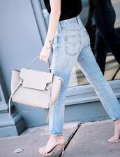 krystal schlegel,blogger,jeans,top,bag,shoes,handbag,sandals,high heel sandals