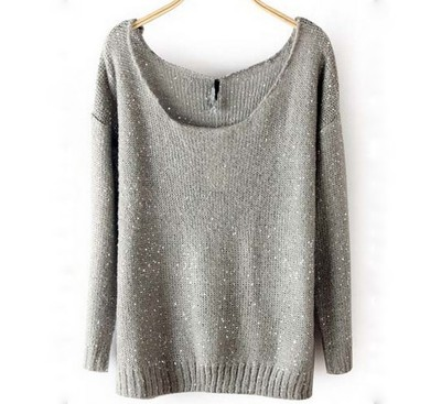 Sparkle grey knit sweater · love, fashion struck ·