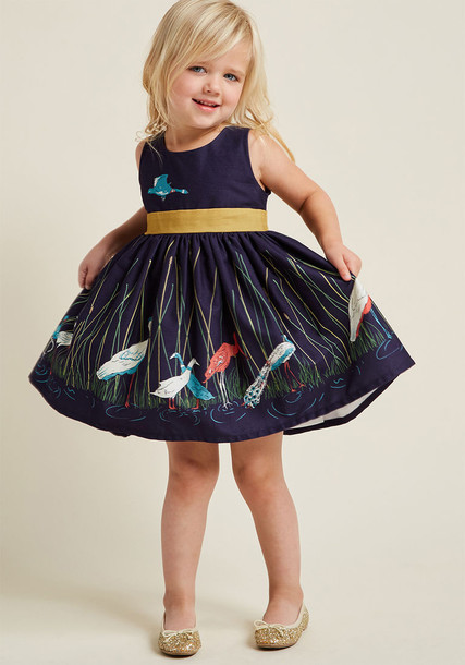 Martha Beauty Pageant dress navy dress lady book navy cotton blue