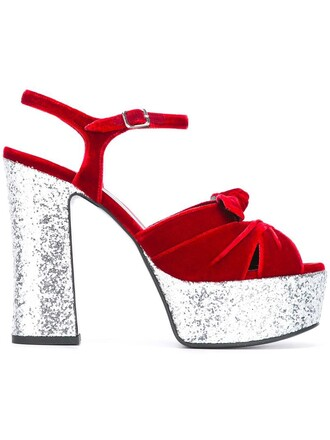 bow women candy sandals leather velvet red shoes