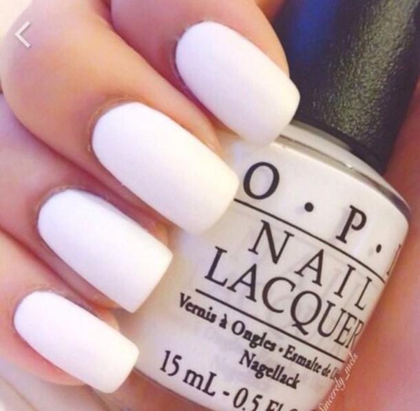 nail polish white matte