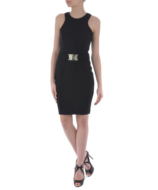 VERSACE dress belted dress