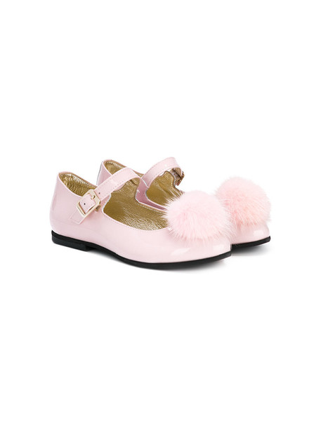 Monnalisa leather purple pink shoes