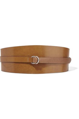 dark belt waist belt leather brown