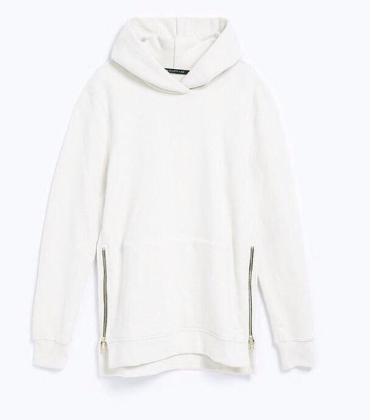sweater white sweater hoodie white hoodie white zips cozy cosy sweaters