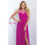 dress,chaz alexia,classy,magenta,colorful,gown