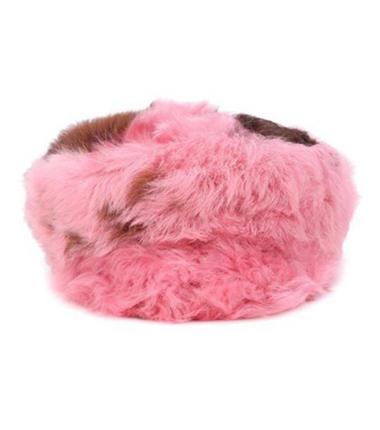 Prada fur hat fur hat pink
