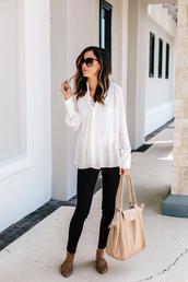 bag,leather bag,longchamp,mules,black pants,white shirt,sunglasses