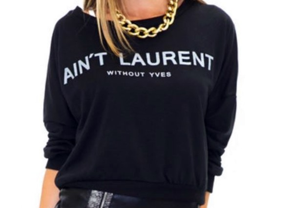 sweater aint laurent black sweater black yves saint laurent