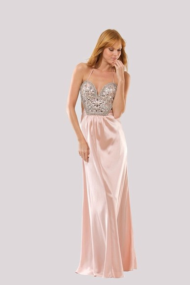 dress prom dress pink silk pink dress beeded jewels pink prom dress