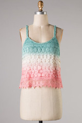 Ombre Crochet Tank - Monica's Closet Essentials