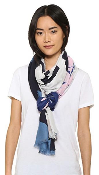 Diane Von Furstenberg scarf floral denim