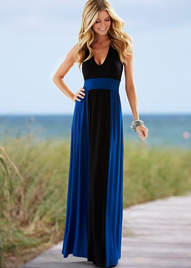 Multi Color block maxi dress from VENUS