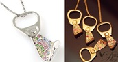 jewels,necklace,crystal,gold and silver,pop tab,necklace gold and silver colorful crystal