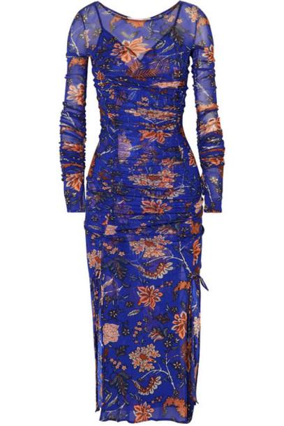 Diane Von Furstenberg dress satin dress mesh satin