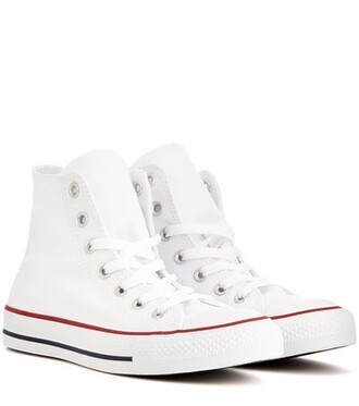 high sneakers white shoes