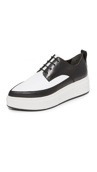 oxfords white black shoes