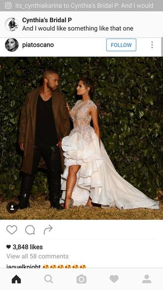 dress wedding dress lace top